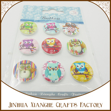 novelty buttons many designs of owl buttons / assorted animal buttons wholesale /