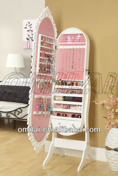 oval mirror jewellery cabinet