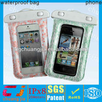 2014 factory price pvc waterproof dry bag for iphone 5s