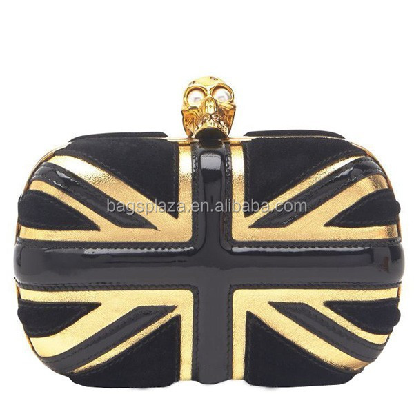 Luxury UK England flag lady lether bag evening bags for women EV1104