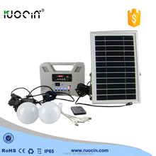solar mini portable solar LED light home kit system power generator led solar lights