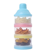 3 Layer Baby Infant Food Milk Feeding Powder Dispenser Container Travel Storage Box Random Colors