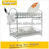 Chrome Plated Standing Wire Dish Display Rack