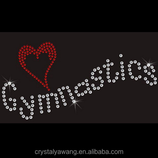 rhinestone gymnastics letter transfer design for Tshirt clothing