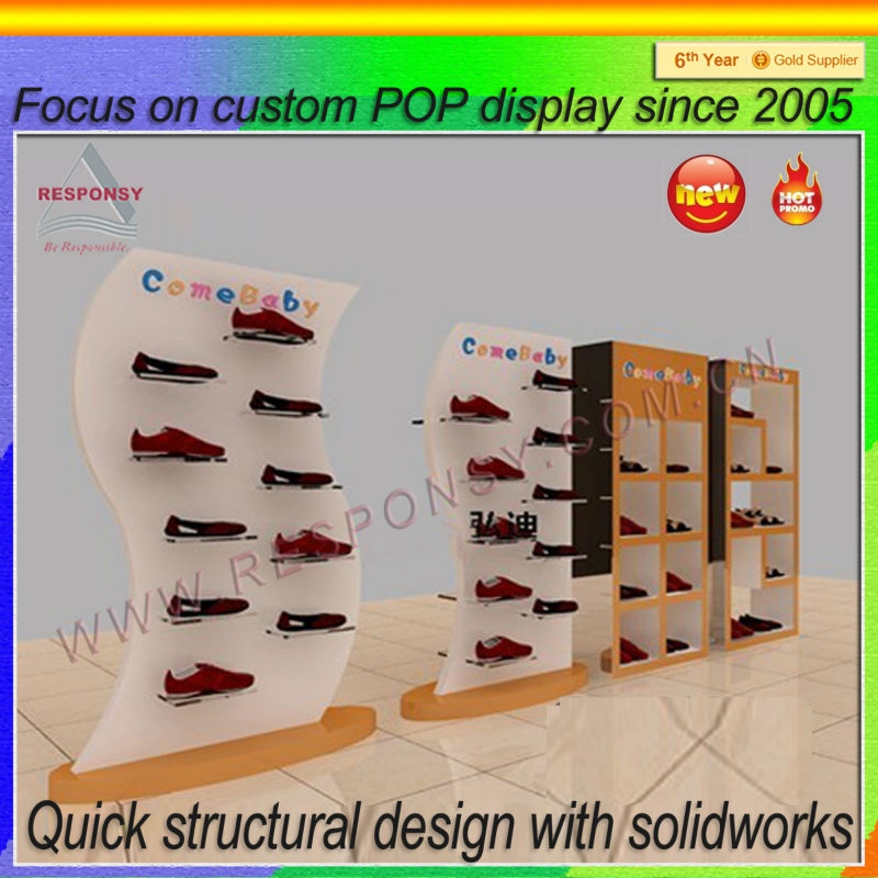 China manufacture Shoes store display rack used in shopping mall