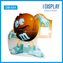 chocolate cardboard floor display stand advertising outdoor standee for chocolate bean