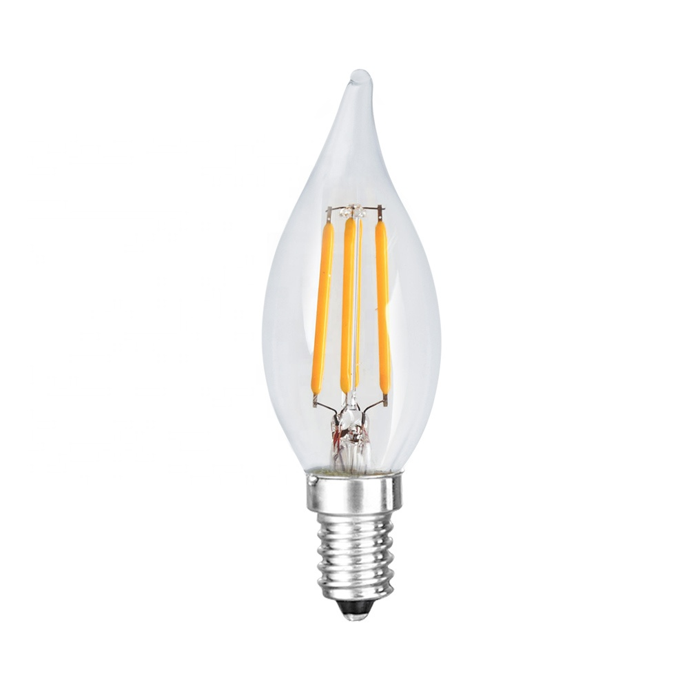 Chinlighting 120V deep dimming 2700K Candelabra <strong>Bulbs</strong> CA10 CA32 E12 3.5W Dimmable Filament LED Lights