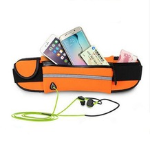High quality elastic Neoprene custom Running money Pouch waist bag with EARPHONE OUTLET