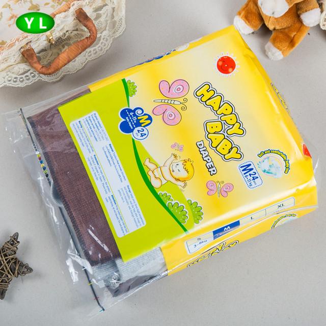 PE custom design printing heat sealing baby diaper packing polybag