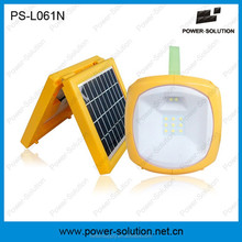 solar rechargeable lantern with mobile phone charger for camping or emergency lighting for home