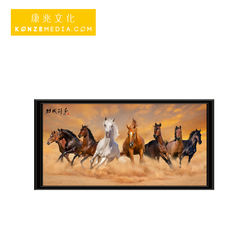 HD glasses-free 3D stereoscope image living exhibition bedroom reception desk decoration horses animal light box