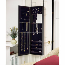 Living room mirrored furniture wall mounted with makeup cabinet mirrored jewelry armoire
