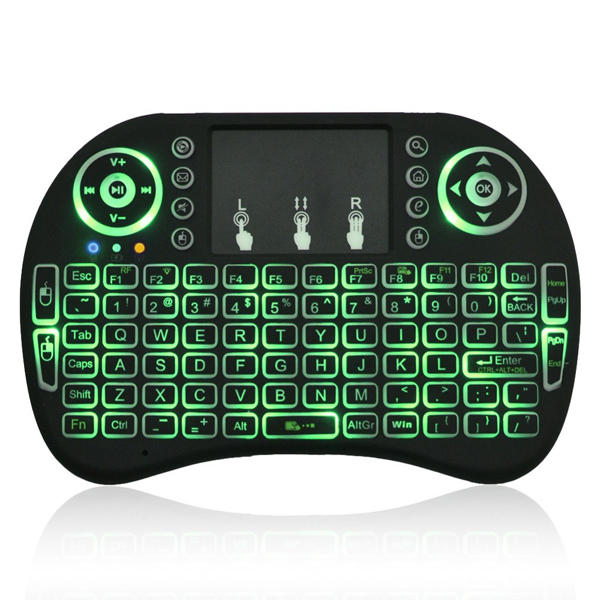 B2GO I8 Pro Mini Wireless Keyboard Backlit 2.4G Wireless Keyboard With 3 Colors