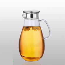 1.6L hand made glass canister glass water juice kettle glass pot