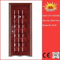 SC-S019 China supplier safety iron door design with grill