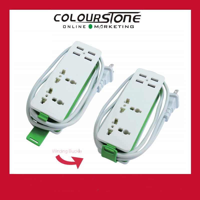 Intelligent Universal USB2.0 4 Port USB Sockets with winding buckle DC 5V 3.1A HDD-HDD19-0424 usb extension socket