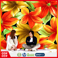 high quality big hotel 3D modern lily flower wall mural for living room