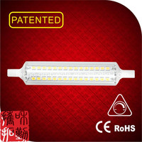 Tecno design linear glass dimmable led R7S 118mm 4000 lumen led bulb light