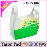 Yason packing plastic bag for clothes yellow shopping bag welded patch handle bag