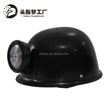 Plastic Black kids Soldier Helmet with LED Miner Lamp