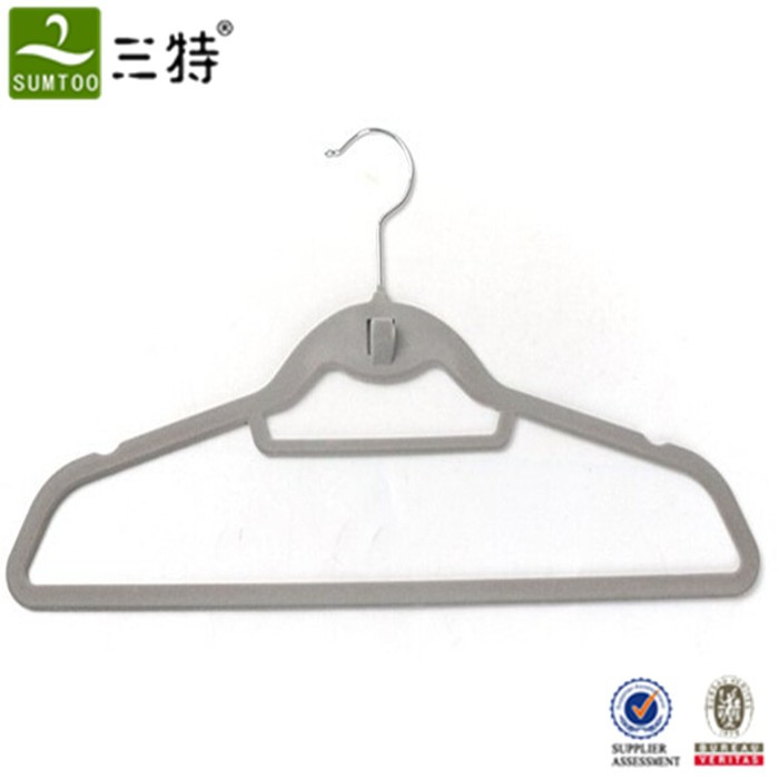 velvet clothes hangers with clips wholesale