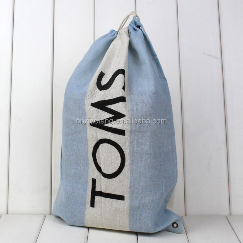 Custom simple design cotton canvas drawstring bag/gift packaging bag