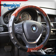 China Supplier Best Top Leather Hand-stitched PVC Car Steering Wheel Cover