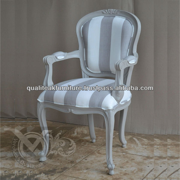 Antique French Painted Dining Armchairs