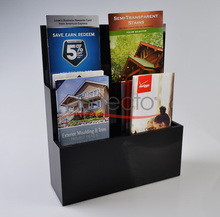 Premium Clear Acrylic Brochure Counter Top Holder Display Stand