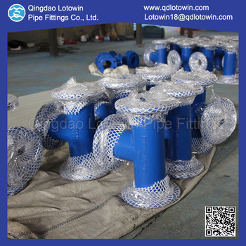 Custom Made DCI Fittings Epoxy Resin Coating All Flange Tee for Water Treatment