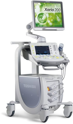 Used Toshiba Xario 100 , 200, Xg Ultrasound For Sale In Great Condition