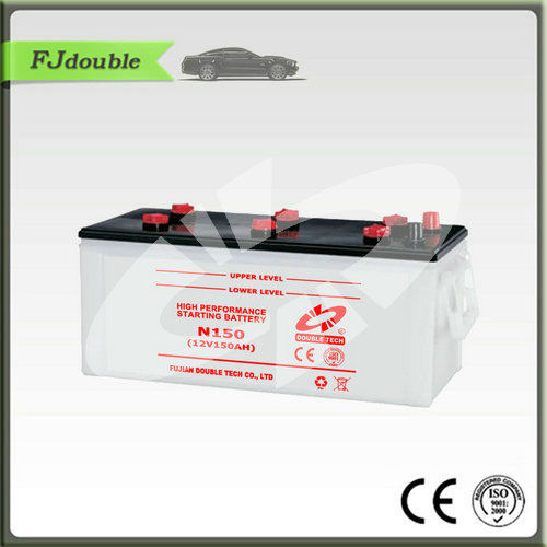 fast delivery rechargeable N150 battery for car and truck manufacturer