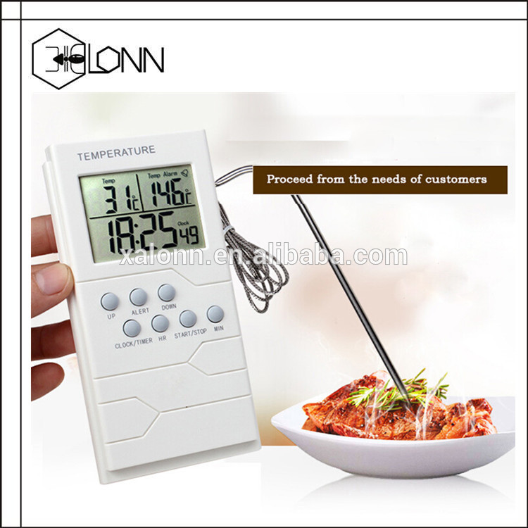 2017 Newest Digital Bluetooth wireless heat resistant free app bbq Oven Meat Thermometer