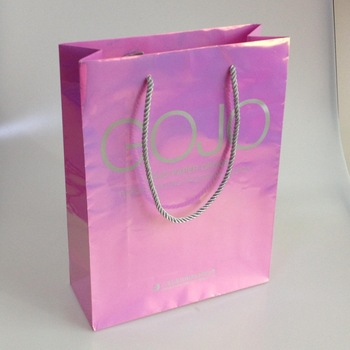 hot sale luminous competitive shopping paper bag for clothes