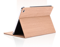 The Newest Design Wood Grain Flip Stand PU Leather Tablet Case For ipad air ipad air case for ipad 5