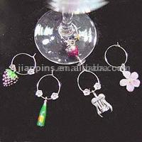 Attractive Enamel Pewter Wine Charms
