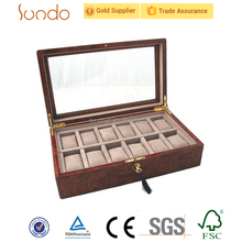 hot sale 12 slots luxury wooden watch box for men gift