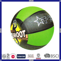 made in China hot sell promotional customized logo rubber basketball color