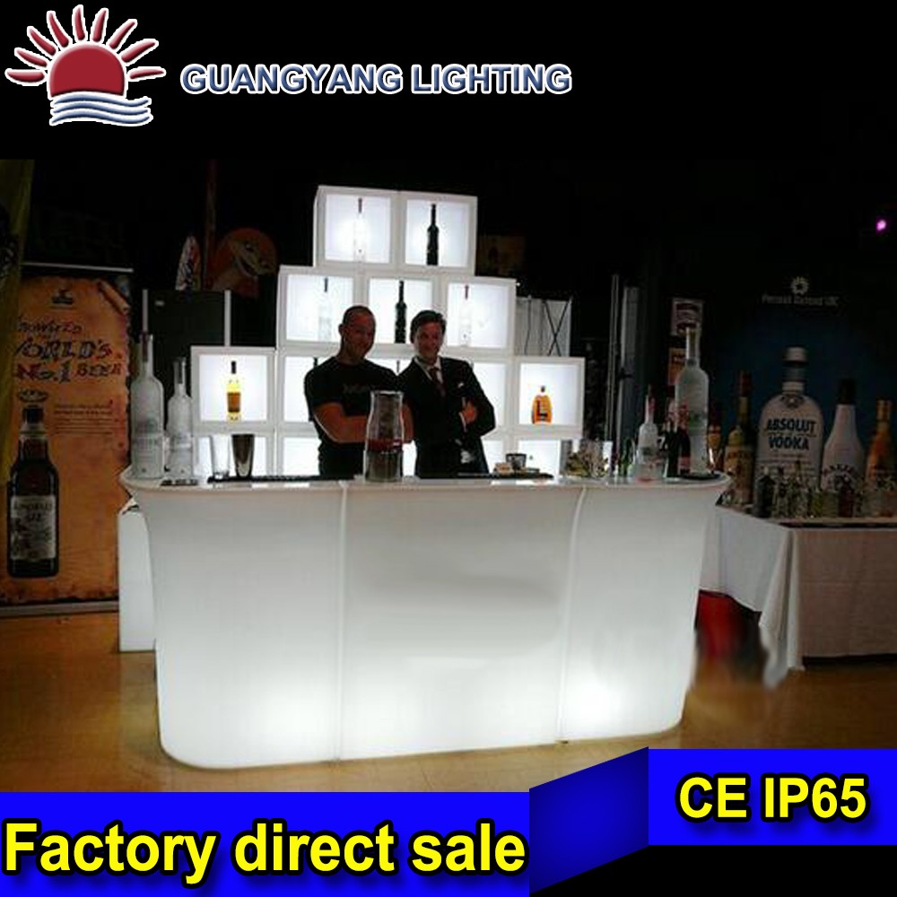 LED Night Lights Decorative Bar Wireless Rechargeable Rotomolding Plastic LED Chair Table light up led plastic bar table