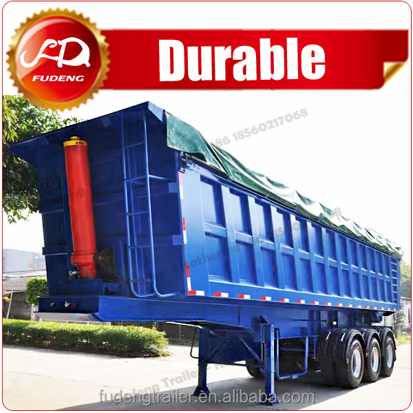 Tractor Rear dump / tipper end unloading semi trailer for sale