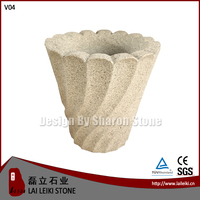 Interior Decorative Granite Pot