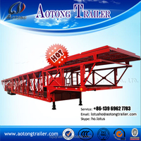 cheap car transport vehicle semi truck trailer / car carrier semi trailer with heavy duty suspension