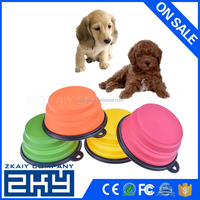 Hot Sale Pet Products Silicone Bowl Pet Folding Portable Dog Bowls Food The Dog Drinking Water Bowl