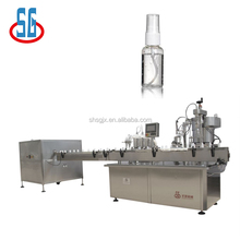 SGPWJ Disinfectant Bottle Unscrambler Spray Filling Capping Machine