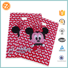 custom made shopping bags ldpe die cut bag for clothes packaging printed color punching hole bags