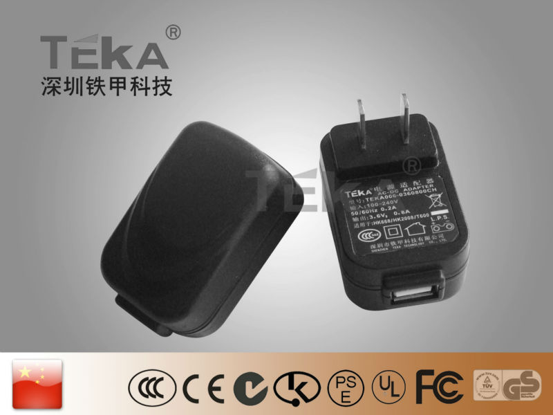 6W USB CH power AC/DC adapter switching
