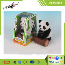 Cute Plush Animal white black bear Panda Toy for Sale with plastic wood