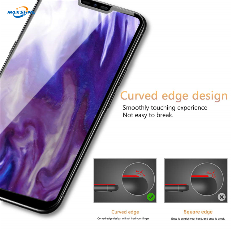 Maxshine Full Cover Curved 3D Tempered Glass For Lg G8