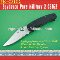 "(PK-C81G2) 5"" Spyder Para Military G-10 Handle Folding Pocket Knife"