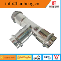 sus 304 stainless steel equal tee press fitting for pipe